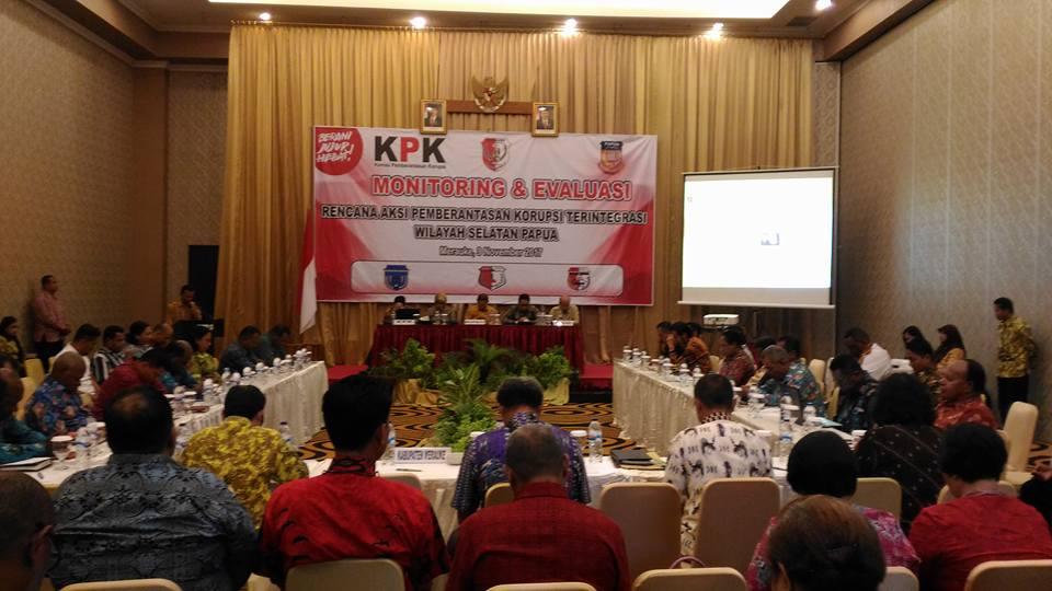 Monitoring & Evaluasi Rencana Aksi Pemberantasan Korupsi Terintegrasi wilayah Papua Selatan