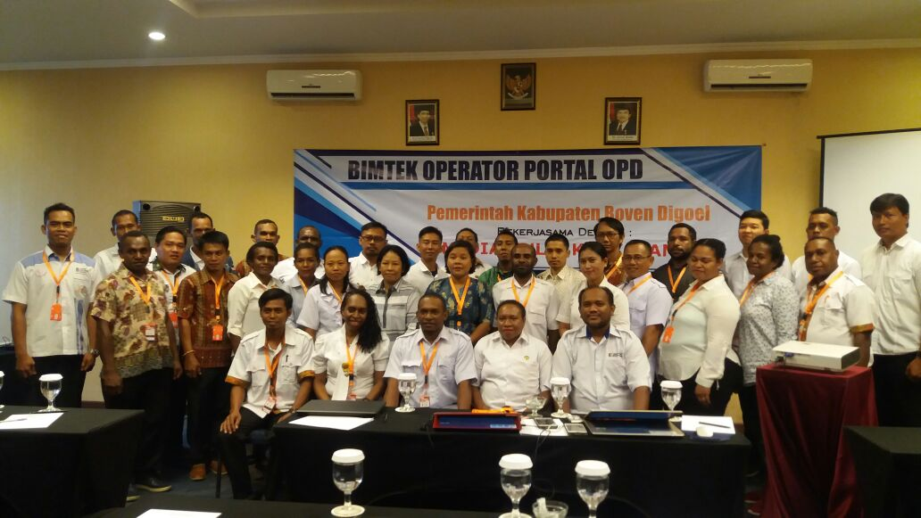 Bimtek Operator Portal OPD Kab. Boven Digoel