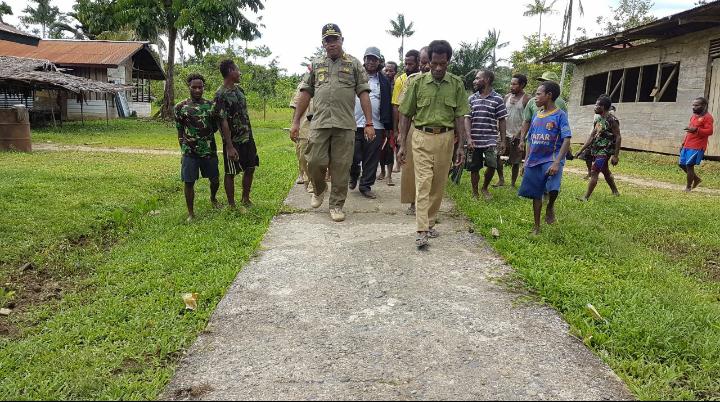 Kunjungan Kerja Bupati Boven Digoel Ke Kampung Burunggop Distrik Manggelum